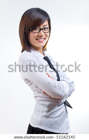 Asian corporate woman - stock photo