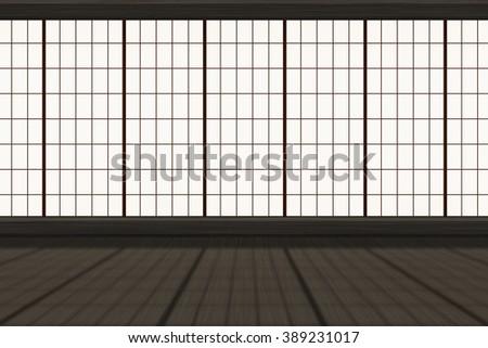 Asian Dojo Background - stock photo