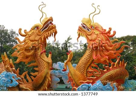 Asian dragons - stock photo