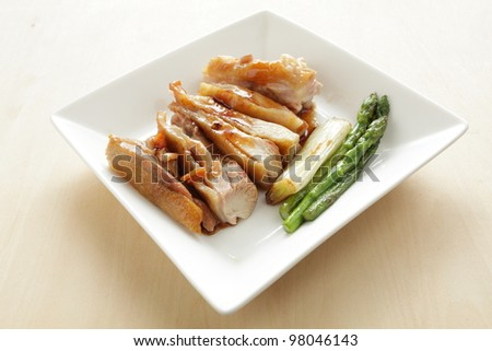 Asian food, Teriyaki Chicken - stock photo