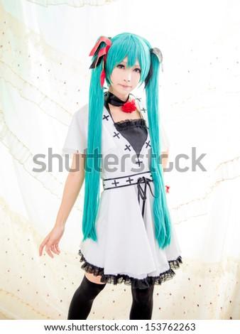 Asian girl  cosplay  japanese style - stock photo