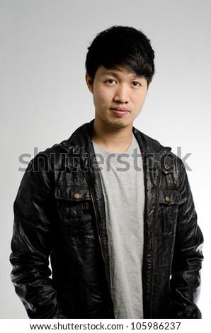 Asian guy portrait - stock photo