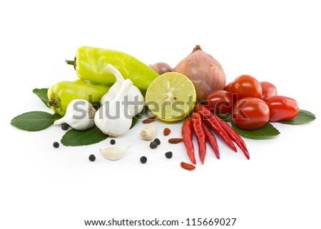 Asian ingredients food - stock photo