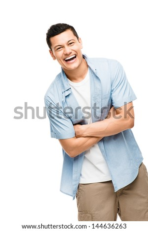asian man attractive happy student - stock photo