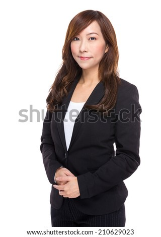 Asian middle age businesswoman - stock photo