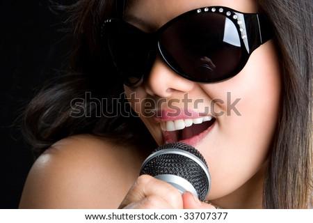 Asian Music Girl - stock photo