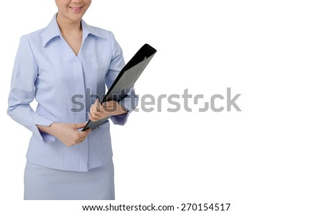 Asian Nurse in uniform  on white background.Medical person for health insurance. - stock photo