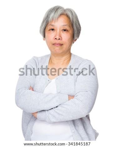 Asian Old woman portrait - stock photo
