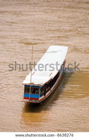 asian river boat - stock photo