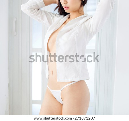asian sexy  lady female huge breast  japanese style xxx  - stock photo