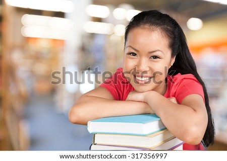 Asian Student. - stock photo