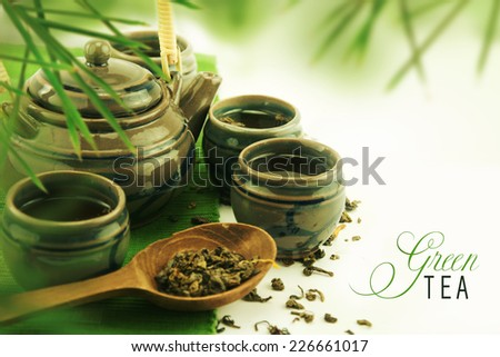 Asian tea set. - stock photo