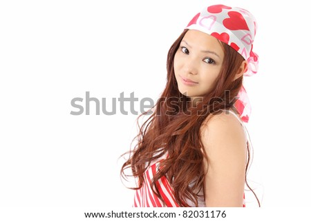 Asian Teen - stock photo