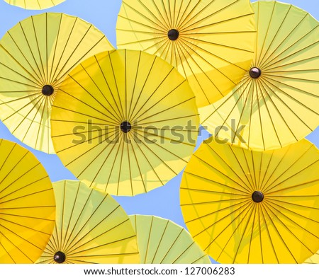 Asian umbrella's handmade umbrella - stock photo
