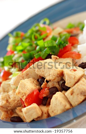 Asian vegetarian dish - stock photo