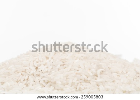Asian white rice or uncooked white rice - stock photo
