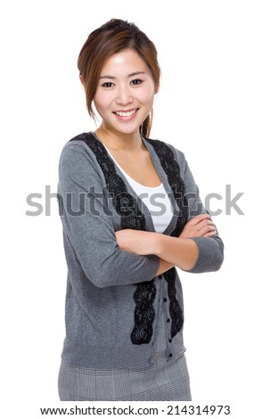 Asian woman crosshand - stock photo