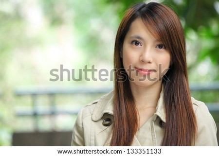 asian woman outdoor - stock photo