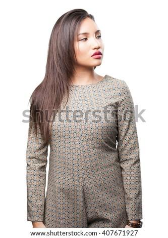 asian woman posing - stock photo