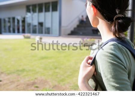 Asian woman student image - stock photo