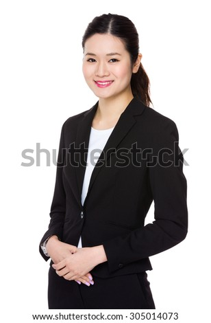 Asian Young businesswoman portrait - stock photo