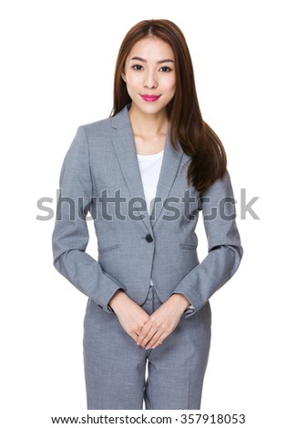Asian Young Businesswoman portrait - stock photo