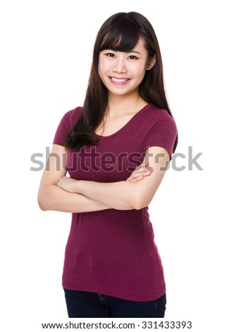 Asian Young woman - stock photo