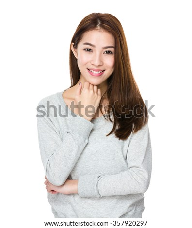 Asian Young woman portrait - stock photo