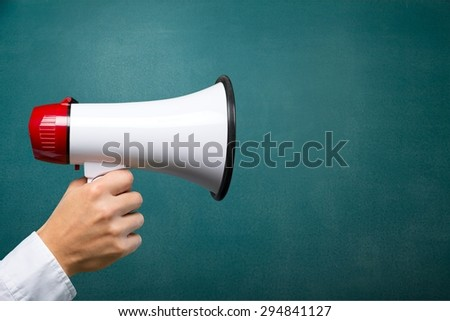 Ask, background, blackboard. - stock photo