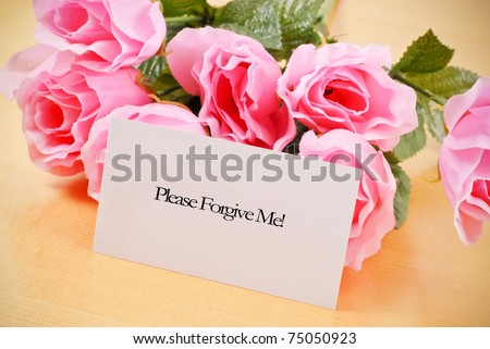 Asking For Forgiveness - stock photo