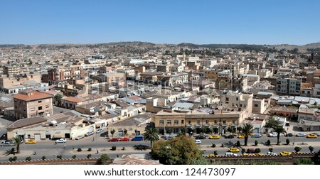 Asmara, capital of Eritrea - stock photo