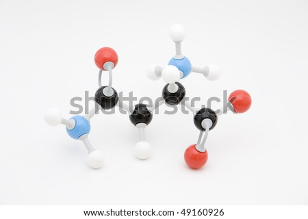 Asparagine amino acid molecule - stock photo