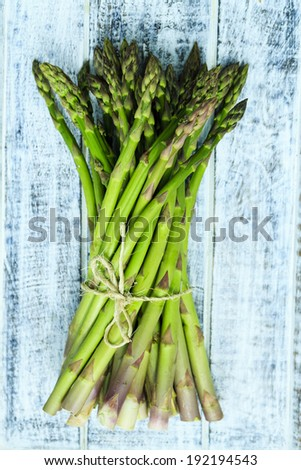 Asparagus, a bunch of fresh asparagus - stock photo