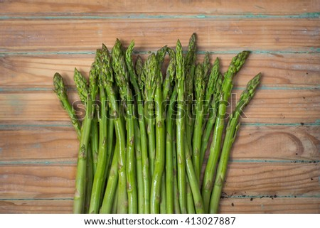 Asparagus, or garden asparagus, scientific name Asparagus officinalis, is a spring vegetable, a flowering perennial plant species in the genus Asparagus. - stock photo