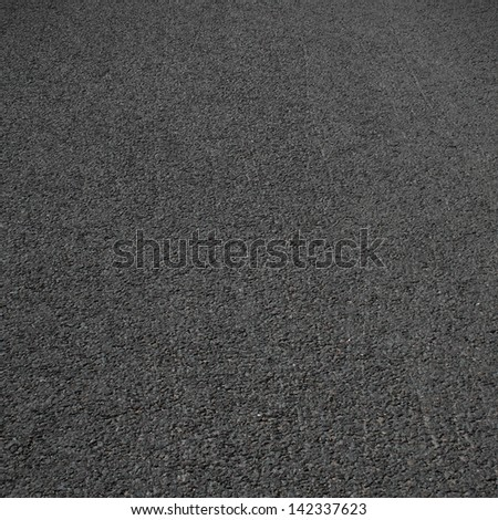 Asphalt clear road surface - stock photo