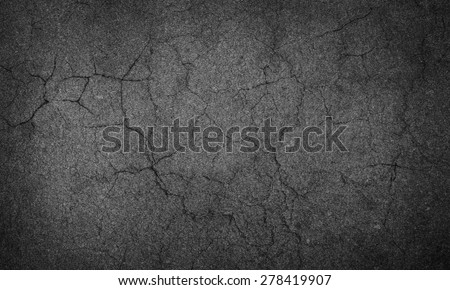asphalt crack - stock photo