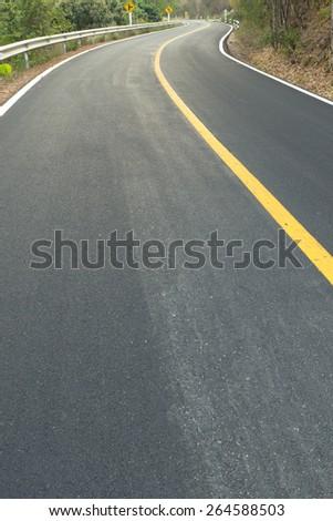 asphalt road ,countryside road - stock photo