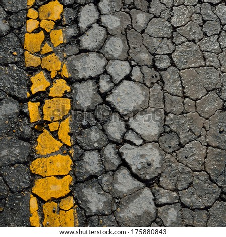 asphalt road crack texture background - stock photo