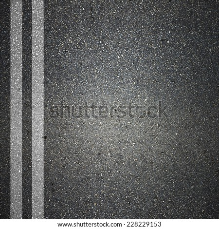Asphalt Road Texture with White Strips - stock photo