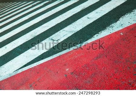 Asphalt Stripes - stock photo