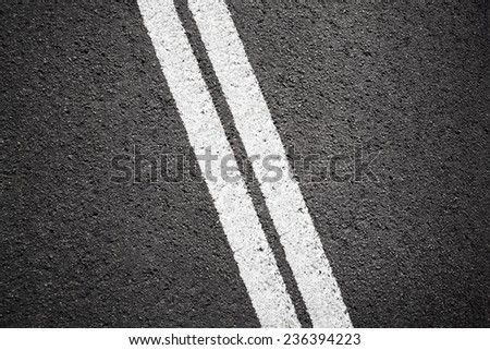 Asphalt texture background with white line - stock photo