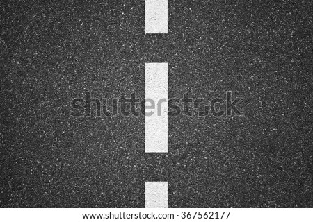 Asphalt texture background with white lines - stock photo
