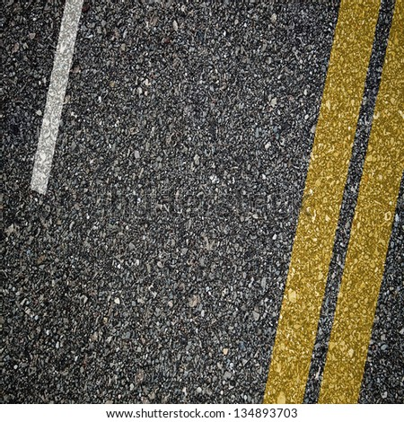 Asphalt texture with separation lines - stock photo