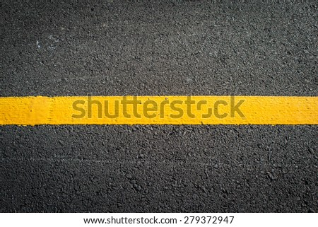 Asphalt with white road line - stock photo