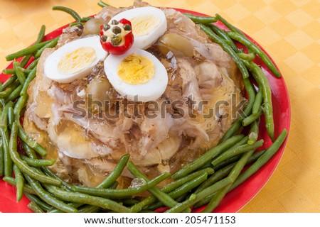 aspic of chicken - stock photo