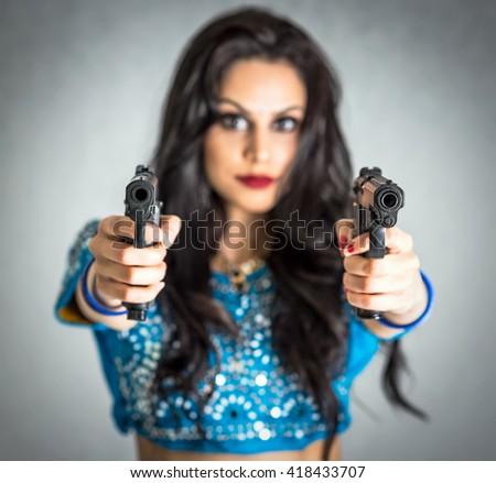 Assassin girl concept - stock photo