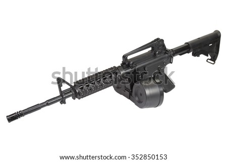 assault rifle isolated on a white background - stock photo