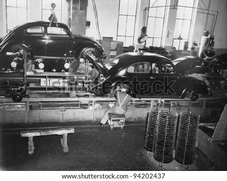 ASSEMBLY LINE - stock photo