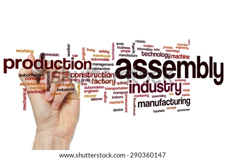 Assembly word cloud concept - stock photo