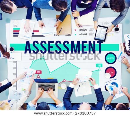 Assessment Analysis Statistics Evaluate Concept - stock photo